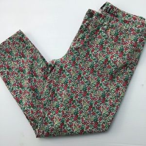 J. CREW Toothpick Ankle Floral Print Jeans 31